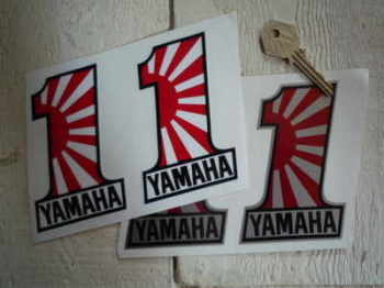 "Yamaha No.1 Stickers. 4"" Pair."