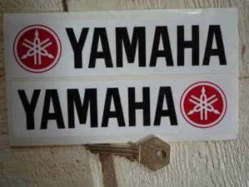 "Yamaha Oblong Handed Stickers. 6.5"" Pair."