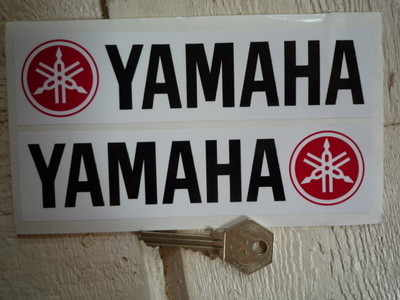 Yamaha Oblong Handed Stickers. 6.5