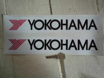 "Yokohama 'Y' Oblong Stickers. 12"" Pair."