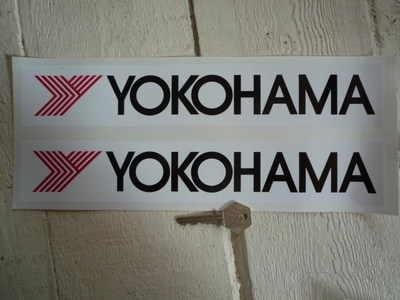 Yokohama 'Y' Oblong Stickers. 12
