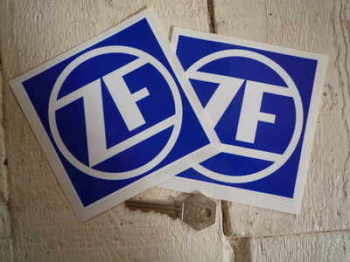 "ZF Friedrichshafen Blue & White Stickers. 1.5"" or 4"" Pair."