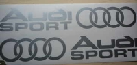 Audi Sport Cut to Shape Stickers with Hoops. Various Colours. 6
