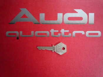 "Audi Quattro Cut to Shape Stickers. 8"" Pair."
