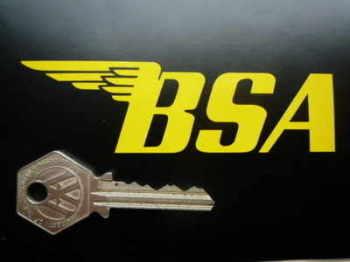 "BSA Cut Vinyl Angular Style Gas Tank Stickers. 4"" or 5"" Pair."