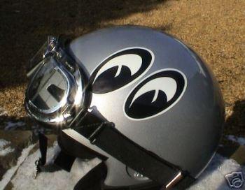 """Classic Moon Eyes Helmet Stickers. 3.5"""" Pair."""
