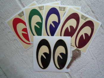 "Hot Rod 50's & 60's Style Moon Eyes Helmet Stickers. 3.5"" Pair."
