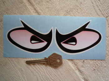 Manic Moon Eyes Classic Helmet Stickers. Large Pair.