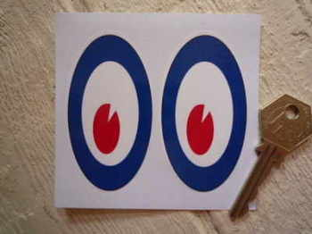 "Mods Moon Eyes Classic Helmet Stickers. 3"" Pair."