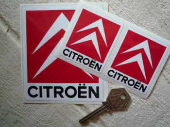"Citroen Chevron Red Stickers. 2"", 2.5"", 3.5"", or 4.75"" Pair."