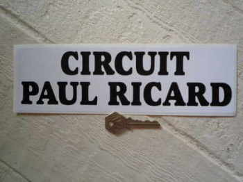 "Circuit Paul Ricard. France Circuit Sticker. 10""."