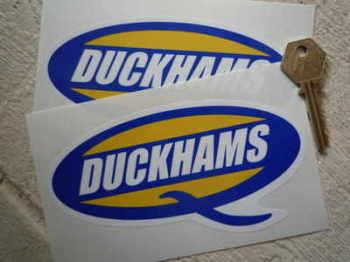"Duckhams 'Q' Shaped Stickers. 6"" or 8"" Pair."