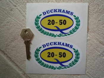 "Duckhams Q 20-50 & Garland Stickers. 4"" Pair."