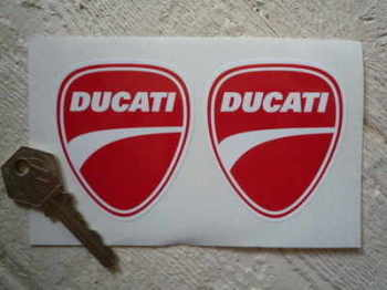 "Ducati Classic Freeway Helmet/Bike Stickers. 1.5"" or 2.5"" Pair."