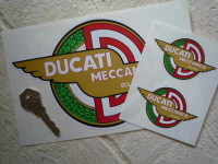 """Ducati Meccanica Bologna Winged Stickers. 3"""", 4"""", 6"""" or 8"""" Pair."""