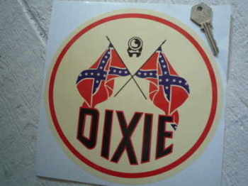 "Dixie Gas Round Sticker. 8""."