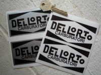 Dellorto Carburatori Black & Silver/Clear Stickers. 4