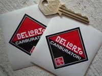 Dellorto Carburatori Inc Diamond Shaped Stickers. 60mm or 80mm Pair.