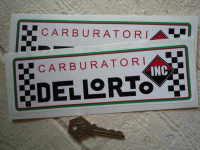 Dellorto Carburatori Inc Oblong Stickers. 8