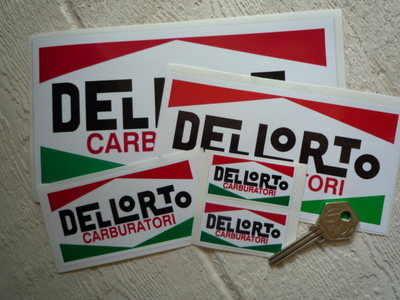 Dellorto Carburatori Oblong Stickers. 2