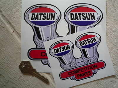 "Datsun Competition Parts Shaped Sticker. 4"" or 6""."