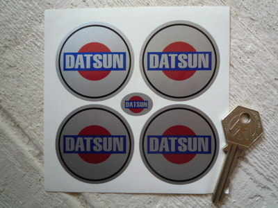 Datsun Rising Sun Wheel Centre Stickers. 38mm or 50mm. Set of 4.