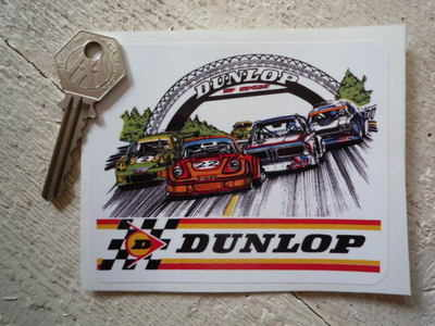 "Dunlop LeMans BMW CSL 911 Capri Sticker. 4""."