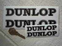"Dunlop Petrolania Black & Clear Stickers. 4"" or 7"" Pair,"
