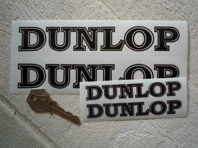 Dunlop Petrolania Black & Clear Stickers. 4