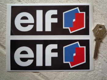 "Elf F1 & F2 Style Oblong Stickers. 6"" or 10.5"" Pair."