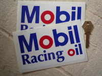Mobil Racing Oil Oblong Stickers. 6