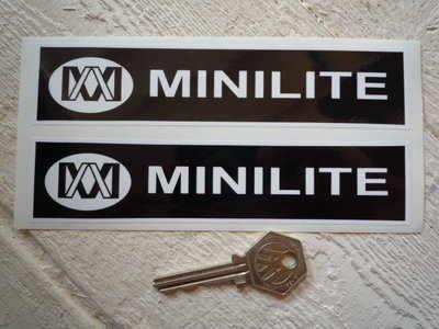 Minilite Black & White Oblong Stickers. 6