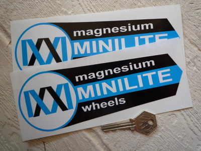 Minilite Magnesium Wheels Shaped Stickers. 7.5