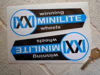 Minilite Winning Wheels Shaped Stickers. 7.5