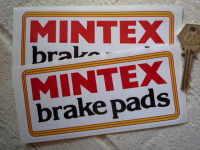 Mintex Brake Pads Oblong Stickers. 6