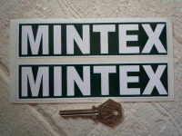 Mintex Green & White Oblong Stickers. 6