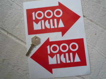 "Mille Miglia 1000 Alloy Wheels Stickers. 6""."