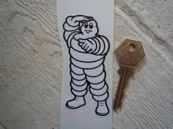 "Michelin Bibendum Pointing Sticker. 5""."