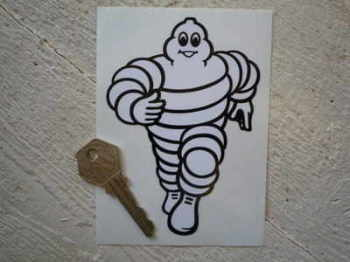 "Michelin Bibendum Running Towards Sticker. 5"", 6"", or 12""."