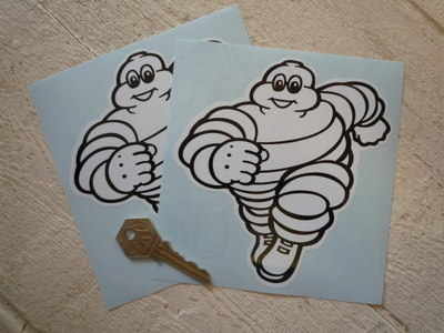 Michelin Bibendum Running Towards Stickers. 2