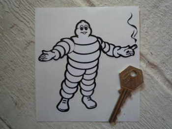 "Michelin Bibendum Smoking Sticker. 5""."