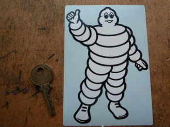 "Michelin Bibendum Thumbs Up Sticker. 5""."