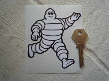 "Michelin Bibendum Walking Across Sticker. 5""."