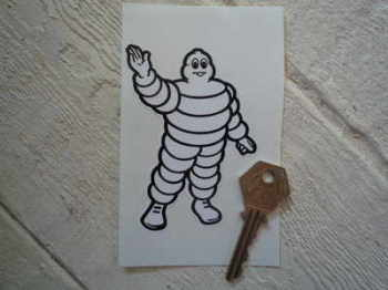 "Michelin Bibendum Waving Sticker. 5""."