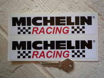 "Michelin Racing Oblong Stickers. 6.5"" Pair."