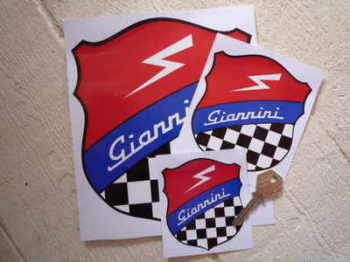"Giannini Shield Style Sticker. 3"", 4"" or 7""."