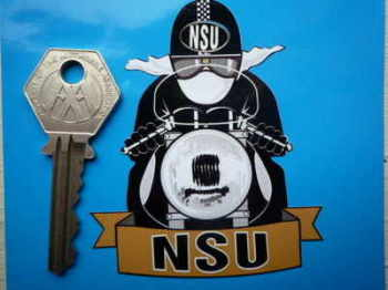 "NSU Pudding Basin Helmet Cafe Racer Sticker. 3""."