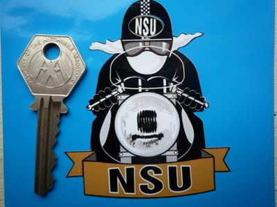 "NSU Pudding Basin Helmet Cafe Racer Sticker. 3""."
