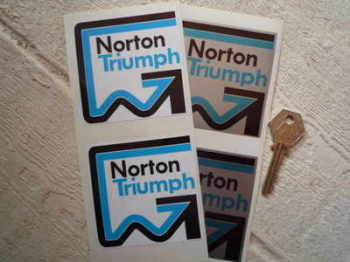 "Norton Blue Style Stickers. 3"" Pair."