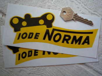 "Iode Norma Shaped Stickers. 6"" Pair."